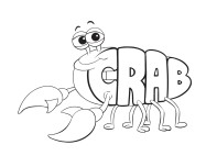Print out Alphabet worksheets Crab