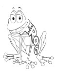 Print out Alphabet worksheets Frog