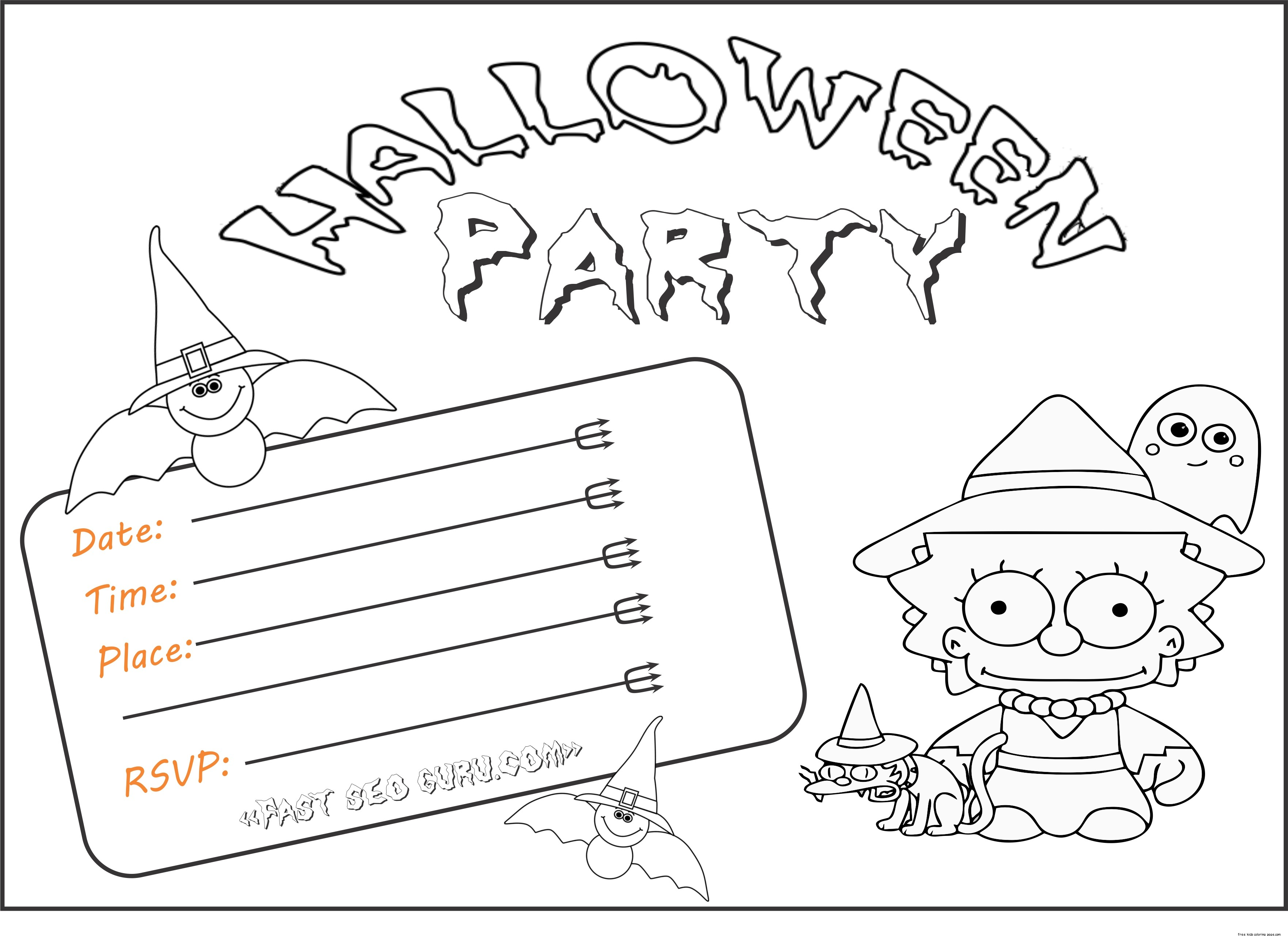Printable Halloween Party Invitations For KidsFree
