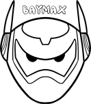 Print out mask hero 6 baymax armor