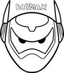 Print out mask hero 6 baymax armor