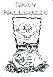 Printable Halloween Spongebob Coloring PagesFree Printable