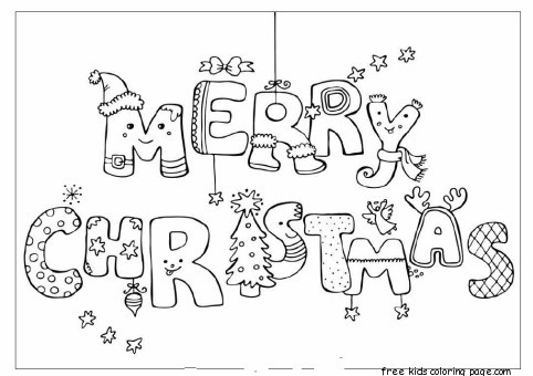 merry christmas coloring card for kids