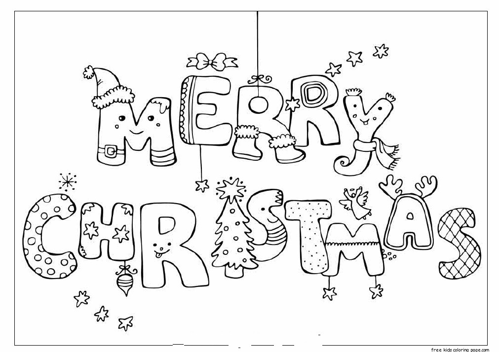 Merry Christmas print out coloring