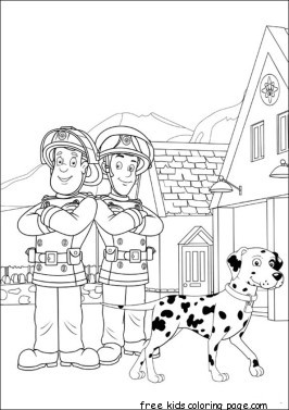 Printable fireman sam elvis cridlington coloring pages for kids