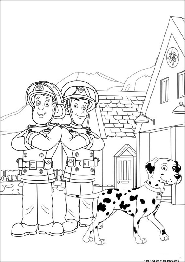fireman sam and elvis printable coloring pagesFree Printable