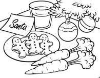 Printable Christmas gingerbread cookies for santa coloring pages