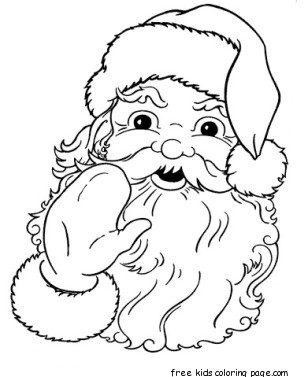Printable Santa Claus Face cola coloring pages
