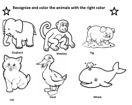 Printable coloring elephant