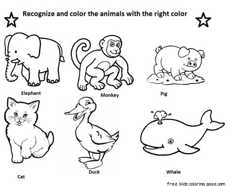 Printable coloring elephant
