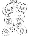 Printable coloring pages christmas stocking Gingerbread