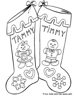 Best Coloring For Kids : Christmas stocking coloring card