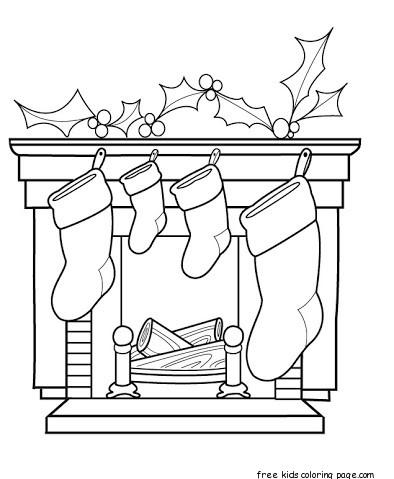 Christmas Stockings Waiting For Gifts Free Printable