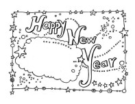 Printable happy new year card
