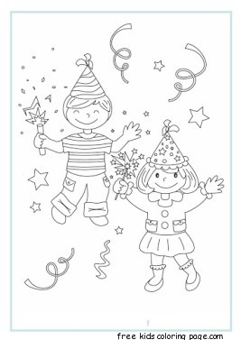 Best Coloring For Kids : New year celebrations coloring page