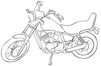 Printable race motorbike colouring pages