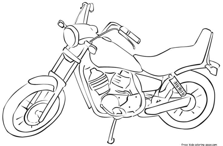 Race motorbike coloring Free