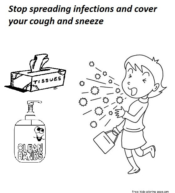 cover cough coloring pages - photo#4