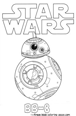 Print out Star Wars The Force Awakens BB 8 coloring pages