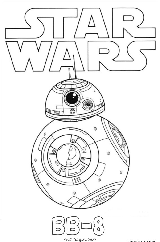 Star Wars The Force Awakens BB 8 coloring pages Free