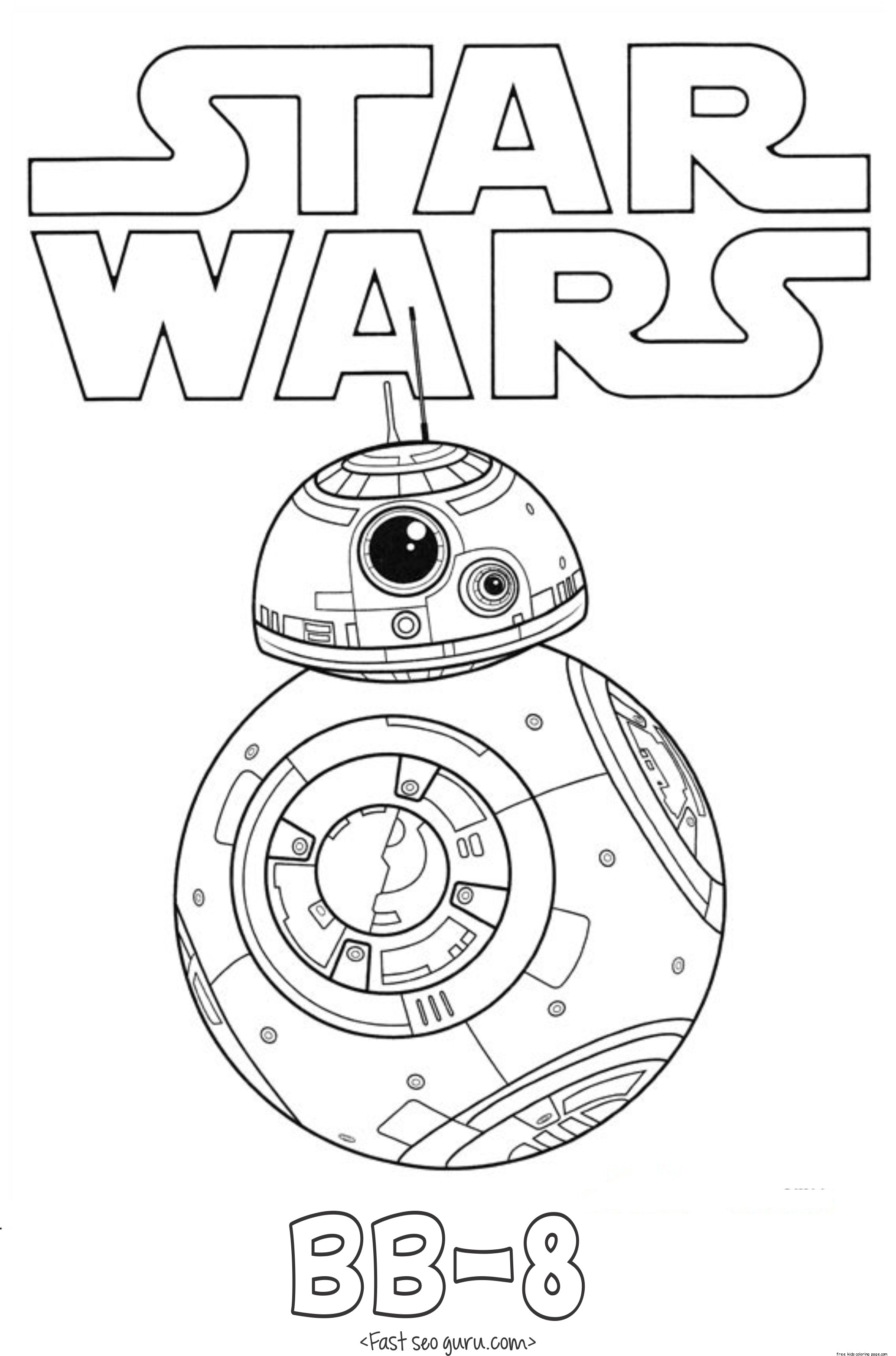 star wars the force awakens bb 8 coloring pages free printable