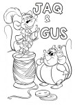 Printable Jaq and gus  Cinderella coloring pages for kids
