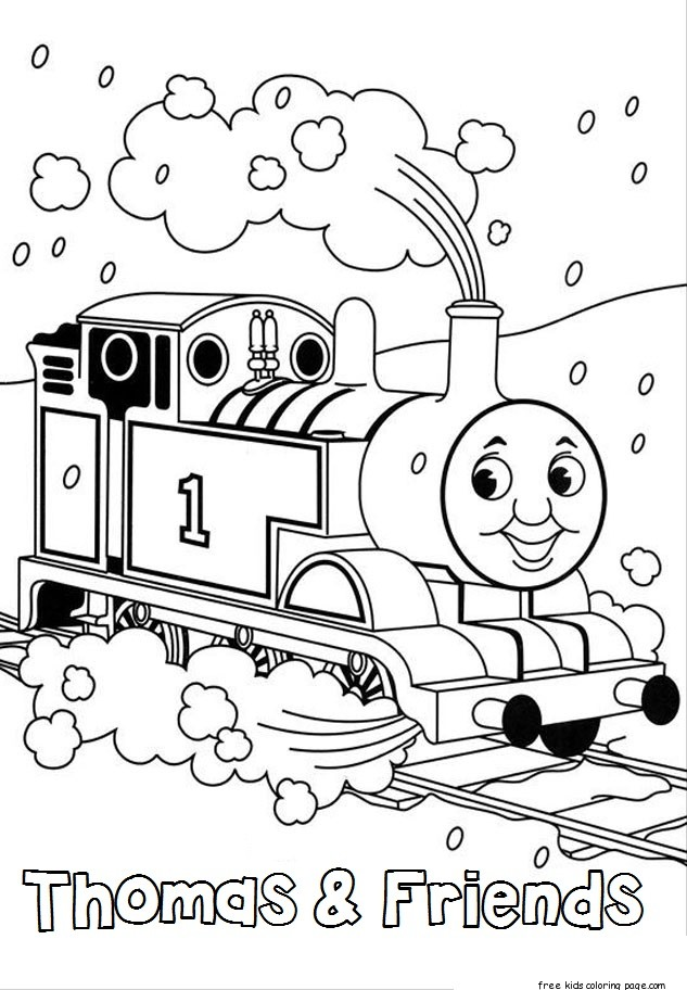 thomas train coloring book pages Free Printable Coloring