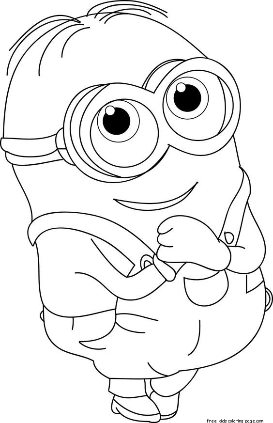 Minions Dave Coloring Page Kids on Cat Mask Coloring Page 2