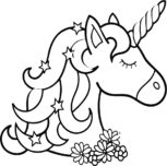 unicorn coloring in page printable
